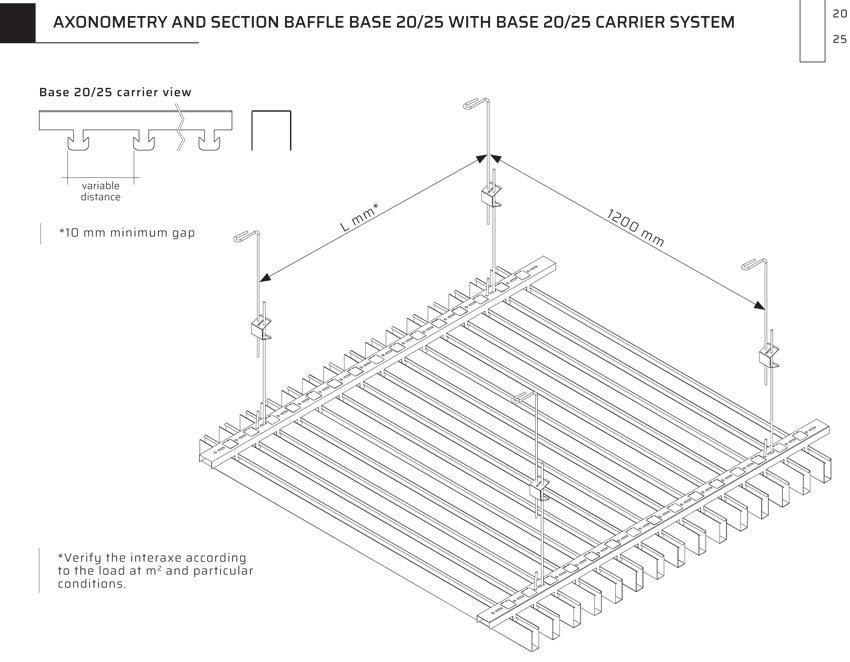 Standardní podhledy Baffle